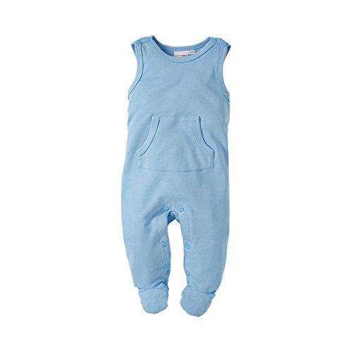 BORNINO Strampler Baby Strampelanzug, Größe 74/80, blau