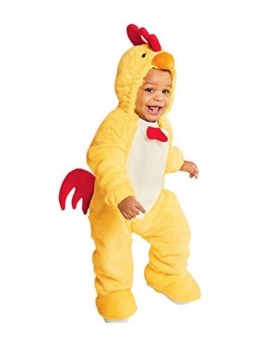 Baby Plush Chicken Halloween Costume Jumpsuit 0-6 Month]()