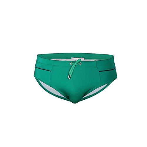 Just Cavalli Men Green Black Pipes Beach & Pool Swim Briefs Designer Swimsuit XL US EU 54