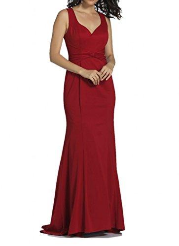 Dunkel Langes Braut Abendkleider Etuikleider Abiballkleider Rot Damen Marie Chiffon La Ballkleider qO5RzEwq