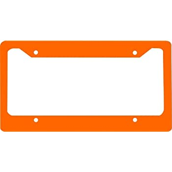 Amazon.com: Orange novelty License Plate Frame For Car License Plate ...