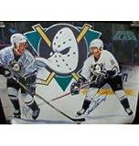 Signed Ducks, Anaheim Mighty (Paul Kariya / Teemu Selanne) 18x24 Poster By Paul Kariya and Teemu Selanne autographed