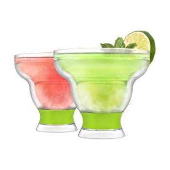 HOST 5173 FREEZE Cooling Cups, Green Margarita Glass-Set of 2