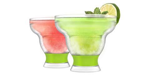 HOST Margarita Freeze Glass Cooling Cups, Set of 2, Green ()