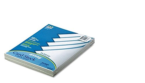 Pacon : Array Card Stock, 65 lb, White, Letter, 100 Sheets per Pack -:- Sold as 2 Packs of - 100 - / - Total of 200 - Pacon Array Cardstock