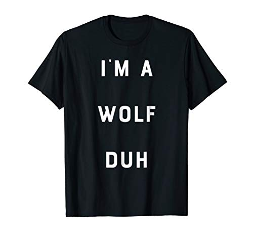 Easy Halloween Costume Wolf Shirt Funny DIY Outfit