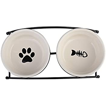 Amazon.com : Necoichi Raised Cat Food Bowl (Cat) : Pet