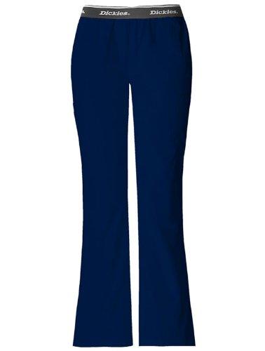Dickies 853202 Women's Hip Flip Cargo Flare Leg Scrub Pant Navy X-Large