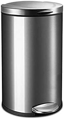 Color : A Color : A HUAIX home Indoor environmental trash can Stainless steel trash can living room kitchen pedal trash