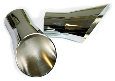 (C-6-5) Compatible With 69-72 Oldsmobile Hurst Olds 442 W-30 Rallye 350 Trumpet Tail Pipe Chrome Tips ()