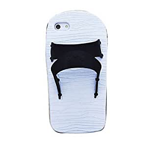 Buy Slippers Design Soft Silicone Case for iPhone 5/5S (Assorted Colors) , Black