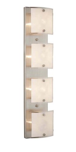 Artcraft Lighting Brentwood Modern Contemporary 4-Light Bathroom Light, Brushed Nickel With Frosted Glass (Artcraft Modern Chandelier)