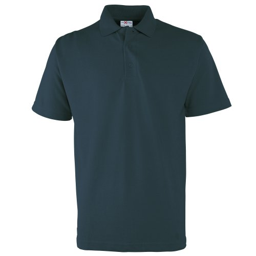 RTXtra Mens Pique Knit Classic Polo Shirt (XL) (Navy) -