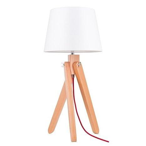 Bauhaus - Lámpara de mesa (Color Blanco, altura 51 cm ...