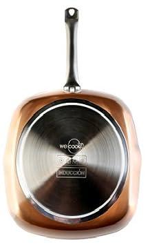 WeCook 10530 Sarten Antiadherente Cuadrada Induccion Vitrocerámica y Fogón, 28x28 cm, Sin PFOA ni BPA: Amazon.es: Hogar