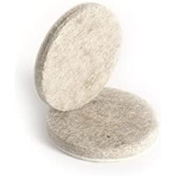 Slipstick CB017 1-1/2 Inch Round Furniture Felt Pads with Heavy-Duty Self Stick Adhesive (12 Pack) Surface Protectors