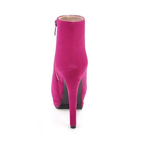 Fuchsia Booties Ladies Ankle Womens Heels Zip Boots Platform up High Vitalo Stiletto Pq4Cq