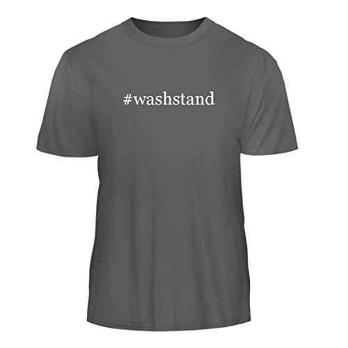 Tracy Gifts #Washstand - Hashtag Nice Men's Short Sleeve T-Shirt, Grey, (Oak Washstand)