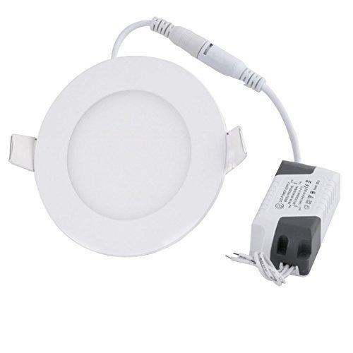 eDealMax blanca 4W Ronda Inicio regulable LED empotrada en el techo AC85-265V del bulbo de la luz del panel