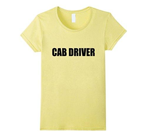 Cab Driver Costume (Womens Cab Driver Halloween Costume Party Cute & Funny T shirt XL Lemon)