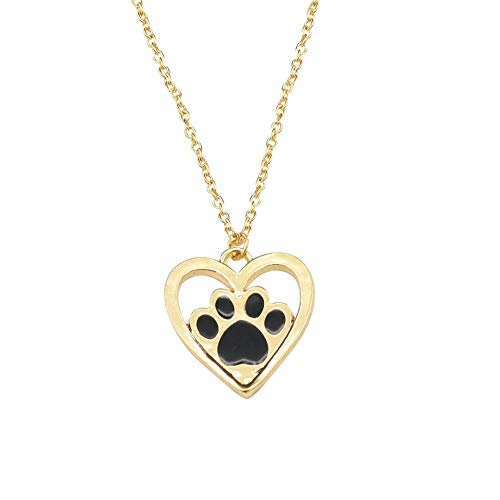 Necklace Dripping Oil Dog Claw Footprint Love Necklace Pendant Geometric Jewelry Under 5 Dollars Best Valentine's Festival Gifts for Girlfriend