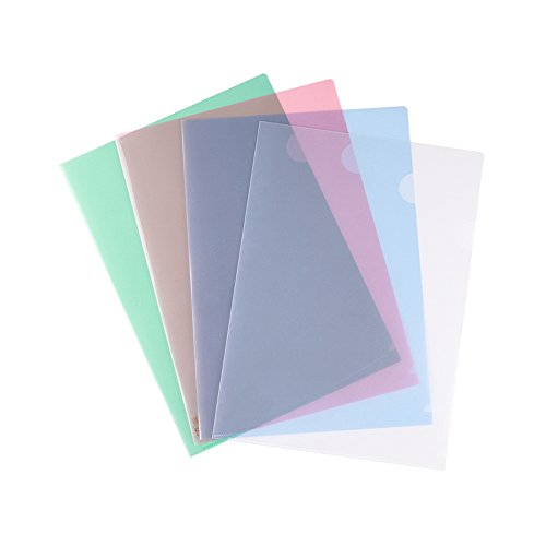 Zhi Jin 15Pcs Clear Project Pockets File Folder Paper Jacket Sleeves Document Organizer Set for Officwe School Pink by Zhi Jin