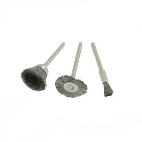 Cepillos de acero para herramienta rotativa 3 pzas /Ø5, 15, 20 mm Silverline 580466