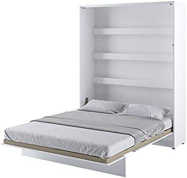 BIM Furniture Cama de pared vertical con somier plegable ...
