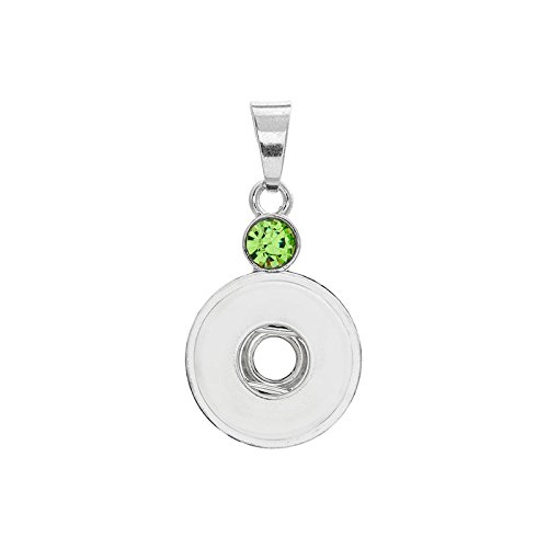 (2017 New Crystal Alloy Pendant for Fit Noosa Necklace Snap Chunk Button A335)