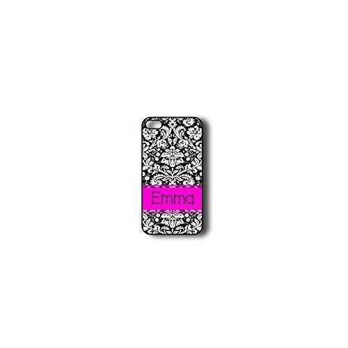 Krezy Case Monogram iPhone 4s Case, colorful damask pattern Monogram iPhone 4s Case, Monogram iPhone 4s Case,...
