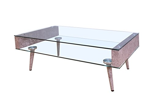 Acme Furniture Acme 82300 Boyd Coffee Table, Clear Glass, One Size