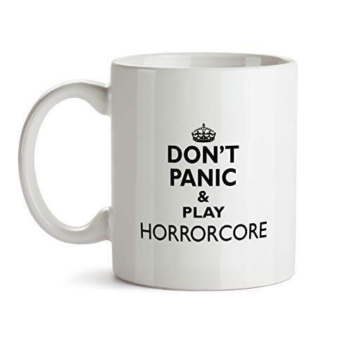 Horrorcore Music Mug - AA28 Don't Panic And Play Funny About Musical Lover Quote Theme Themed Coffee Gift Novelty Cup For Teacher Director Player For Men Women