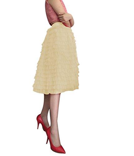 CoutureBridal - Falda - trapecio - para mujer champán