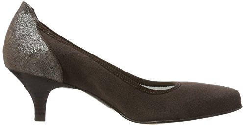 Toe Diavolezza Brown 9289 Contessa Brown Closed Heels WoMen PrnOTrzt