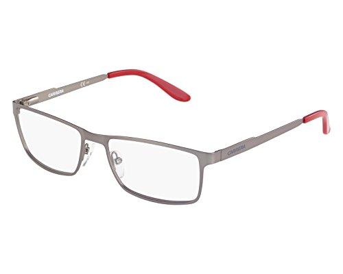 Carrera Montures de lunettes Ca6630 Pour Homme Matte Black, 54mm Argent - Rouge