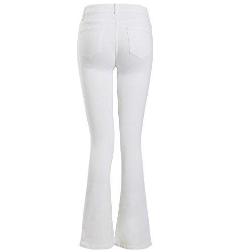 Jean Jeans Flare Denim Femmes Taille 42 Blanc Bootcut Ss7 Nouveau Évasé 34 Skinny 5A3qj4LR