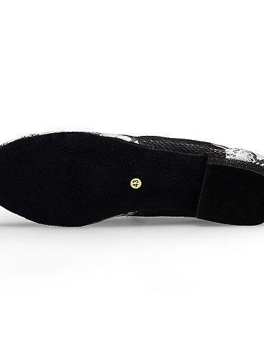 ShangYi Non Customizable Mens Dance Shoes Salsa Flocking Cuban Heel Black black and white