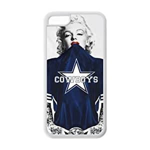 meilinF000iphone 6 plus 5.5 inch Case - Marilyn Monroe in NFL Dallas Cowboys blue Jersey Rubber (TPU) Cases Accessories for Apple iphone 6 plus 5.5 inch (Cheap IPhone 5)meilinF000
