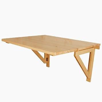 SoBuy® Tavolo da muro pieghevole in legno 75*60cm, con due ...