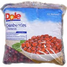 Dole Individual Quick Frozen Cranberry, 5 Pound -- 2 per case. Whole Cranberries