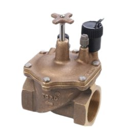 1.5 1.5 220-26-96 Toro 220 Series Electric Brass Valve with DC Latching Solenoid