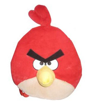 Angry Birds Plush Backpack, Red Bird (Angry Birds Red)
