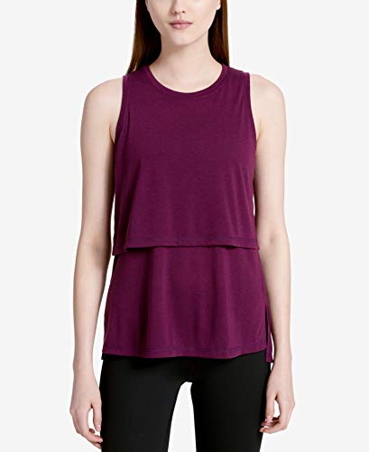 Calvin Klein Performance Womens Epic Tiered Fitness Tank Top Green M (Best Cyber Monday Workout Clothes)