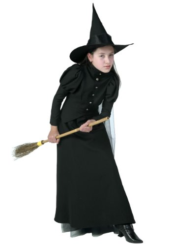 (Deluxe Child Witch Costume Witch Costume for Girls Large)