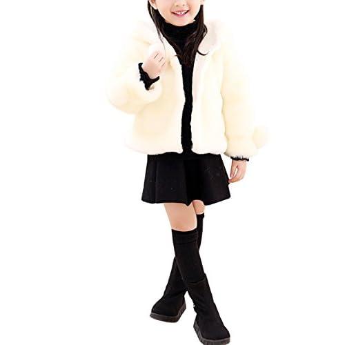 AnKoee Mignon Filles Manteau Fausse Fourrure Veste Chaud Hiver Cape Blousons Vêtements Chauds Enfants Fille