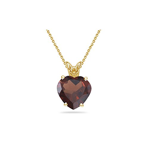 (2.45-3.05 Cts Garnet Scroll Pendant in 14K Yellow Gold )