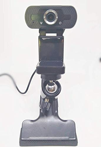 EsiCam Webcam 1080P with Microphone and Clamp Mount Tripod Accessories for PC Streaming Video Calling Conference
