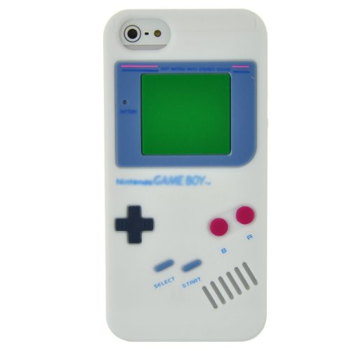 iPhone 5 Retro Game Boy Design White Silicone Case Cover + Free Screen Protector – Part Of Fab Mobile Phone Accessories…