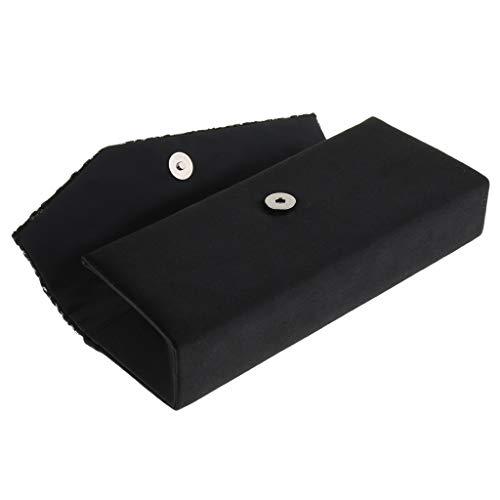 Rétro Motif Baosity Bouton De Exquis Noir Soirée Commutateur Fleurs Pochettes Magnétique B Avec FRHqaH