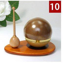 玉響りん(たまゆらりん) 1.8寸 ブラウン No.10(リン棒:花梨×リン台:桑) 3点セット(リンリン台リン棒) 木色で広がるバリエーション9通り(j154-1) B06ZY33FZT リン棒:メイプル×リン台:桑(くわ) リン棒:メイプル×リン台:桑(くわ)